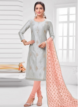 Cotton Silk Trendy Churidar Salwar Kameez For Casual