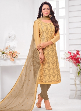 Cotton Silk Trendy Churidar Salwar Suit
