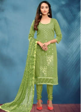 Cotton Silk Trendy Churidar Salwar Suit