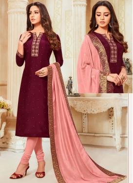 Cotton Silk Trendy Churidar Salwar Suit For Ceremonial