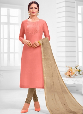 Cotton Silk Trendy Churidar Salwar Suit For Ceremonial