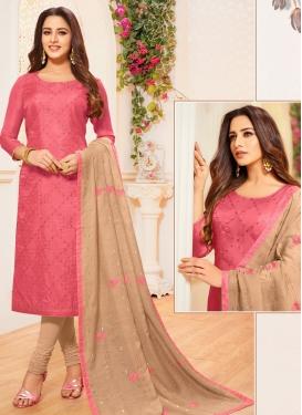 Cotton Silk Trendy Churidar Salwar Suit For Festival
