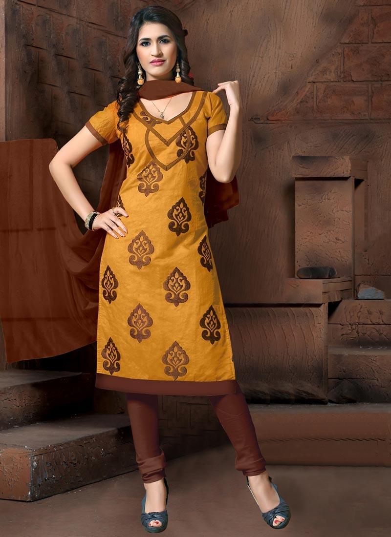 Cotton Silk Trendy Churidar Suit