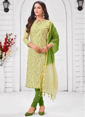 Cotton Silk Trendy Churidar Suit