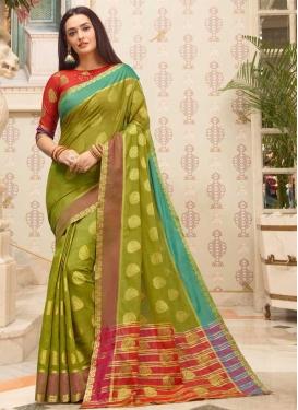 Cotton Silk Woven Work Designer Contemporary Saree