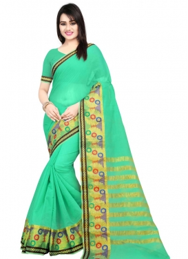 Cotton Silk Woven Work Designer Contemporary Style Saree