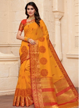 Cotton Silk Woven Work Traditional Designer Saree