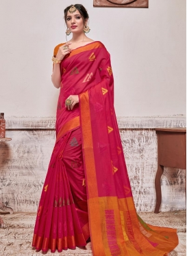 Cotton Silk Woven Work Trendy Classic Saree