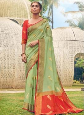 Cotton Silk Woven Work Trendy Classic Saree