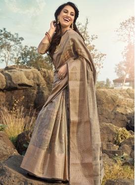 Cotton Silk Woven Work Trendy Saree
