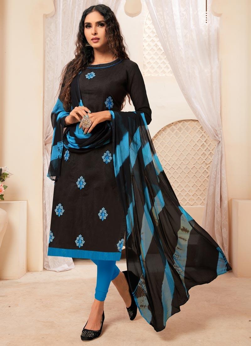 Cotton Straight Salwar Suit