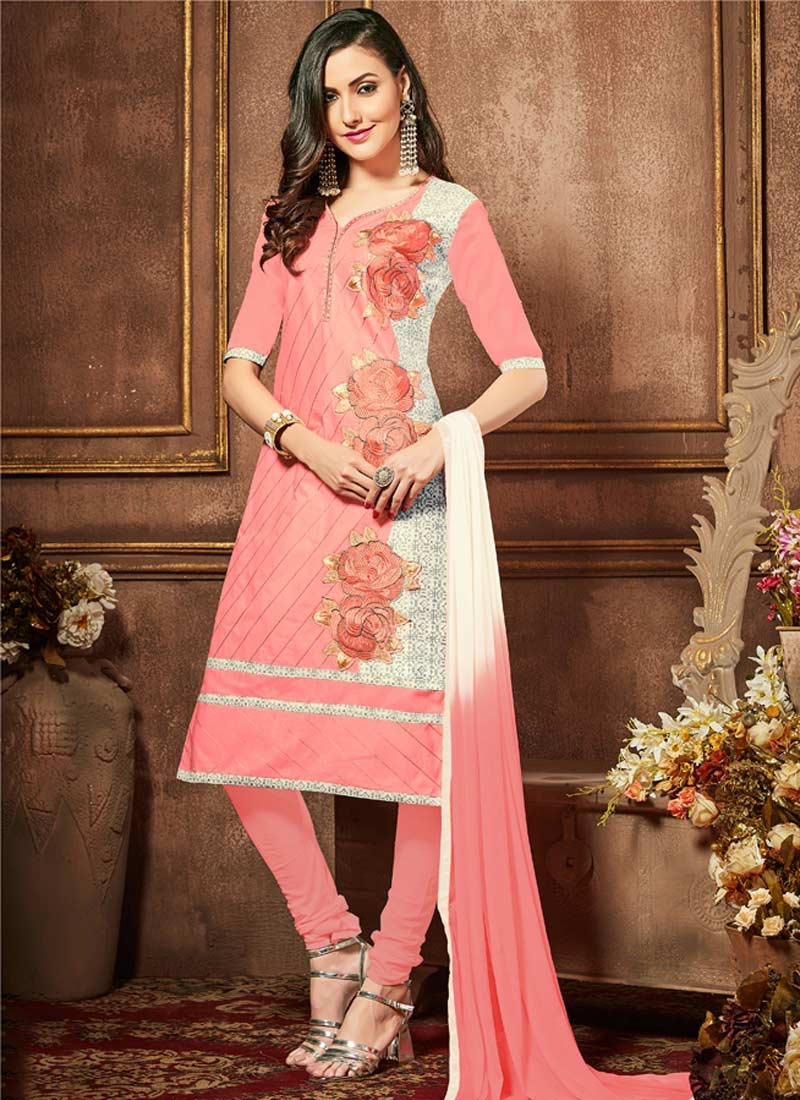 Cotton Trendy Churidar Suit
