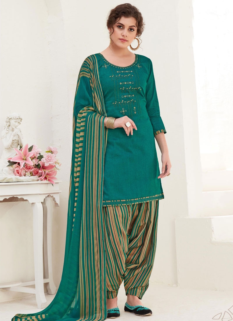 Cotton Trendy Patiala Salwar Kameez For Casual