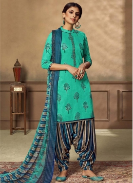 Cotton Trendy Patiala Salwar Suit For Casual
