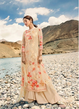 Cream Color Designer Pakistani Suit