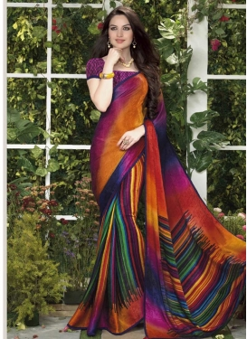 Crepe Silk Contemporary Saree