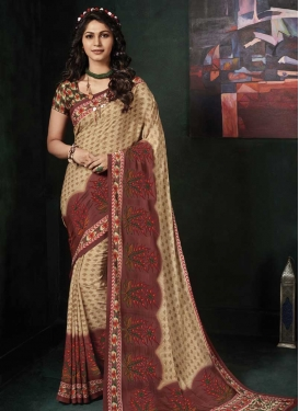 Crepe Silk Designer Contemporary Saree
