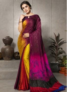 Crepe Silk Designer Contemporary Saree For Casual