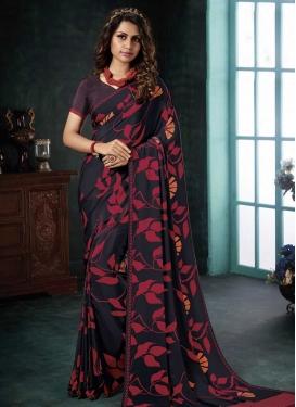 Crepe Silk Designer Contemporary Style Saree