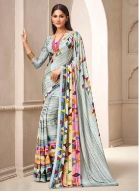 Crepe Silk Designer Contemporary Style Saree For Casual