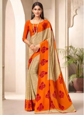 Crepe Silk Designer Traditional Saree For Casual