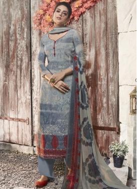 Crepe Silk Digital Print Work Palazzo Style Pakistani Salwar Kameez