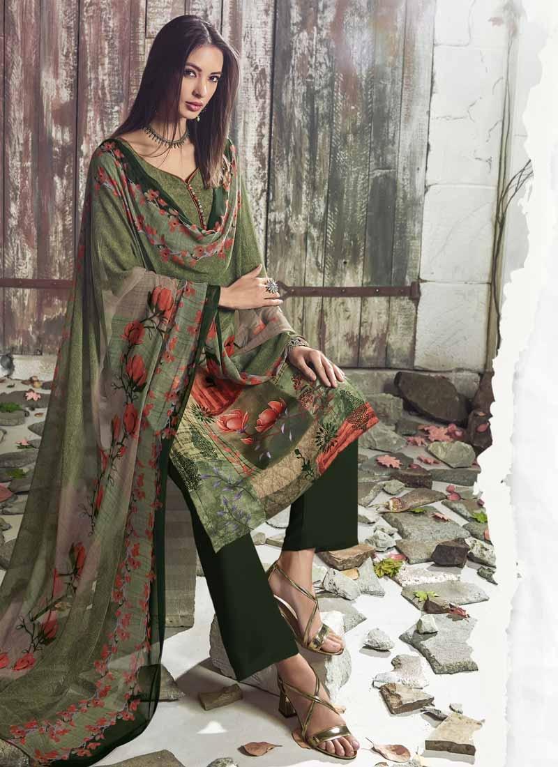 Crepe Silk Digital Print Work Pant Style Designer Salwar Suit