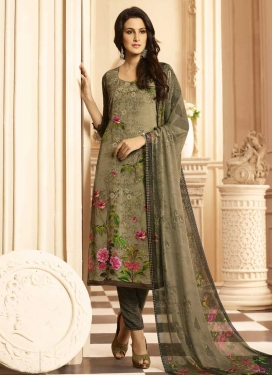 Crepe Silk Digital Print Work Pant Style Pakistani Salwar Suit