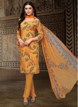 Crepe Silk Digital Print Work Pant Style Salwar Kameez