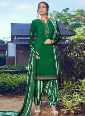 Crepe Silk Embroidered Work Trendy Patiala Salwar Kameez