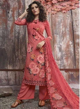 Crepe Silk Palazzo Style Pakistani Salwar Kameez