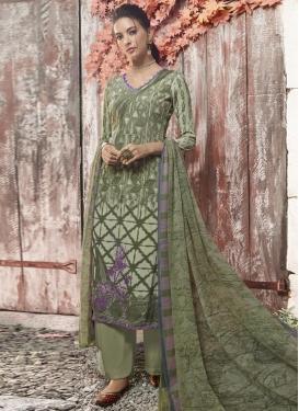 Crepe Silk Palazzo Style Pakistani Salwar Suit For Ceremonial