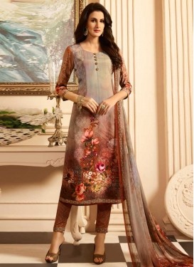 Crepe Silk Pant Style Classic Salwar Suit
