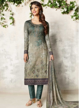 Crepe Silk Pant Style Classic Salwar Suit For Ceremonial