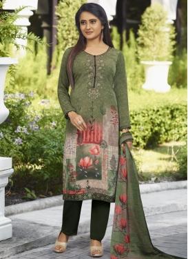 Crepe Silk Pant Style Pakistani Salwar Kameez