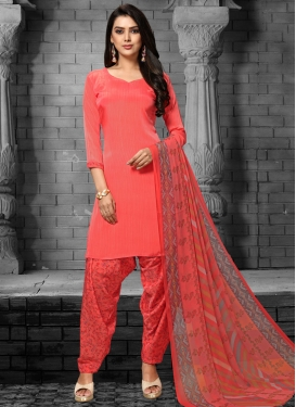 Crepe Silk Punjabi Salwar Kameez For Casual