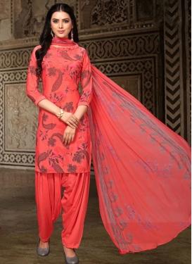 Crepe Silk Punjabi Salwar Suit