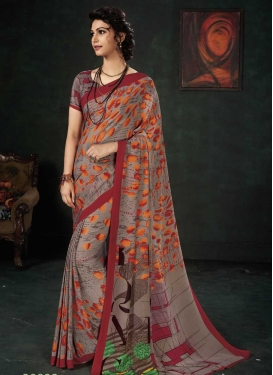Crepe Silk Traditional Designer Saree