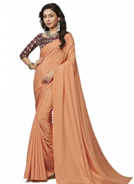 Crepe Silk Traditional Designer Saree For Casual