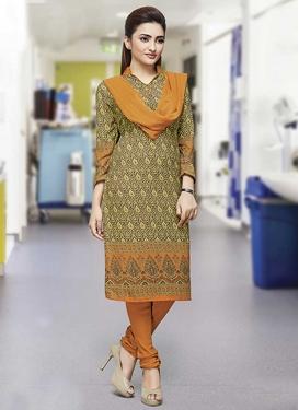 Crepe Silk Trendy Churidar Salwar Kameez For Casual