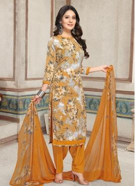 Crepe Silk Trendy Patiala Salwar Suit