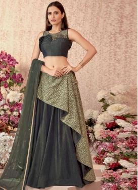 Crepe Velvet Layered Designer Lehenga Choli