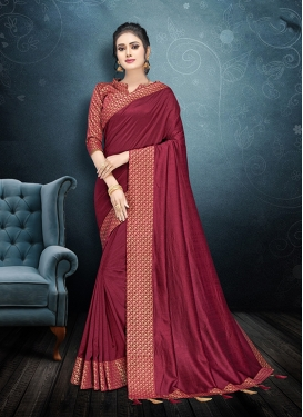 Crimson Art Silk Classic Saree