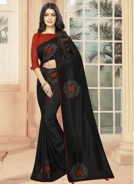 Crystal Work Art Silk Classic Saree