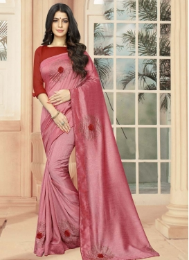Crystal Work Designer Contemporary Saree