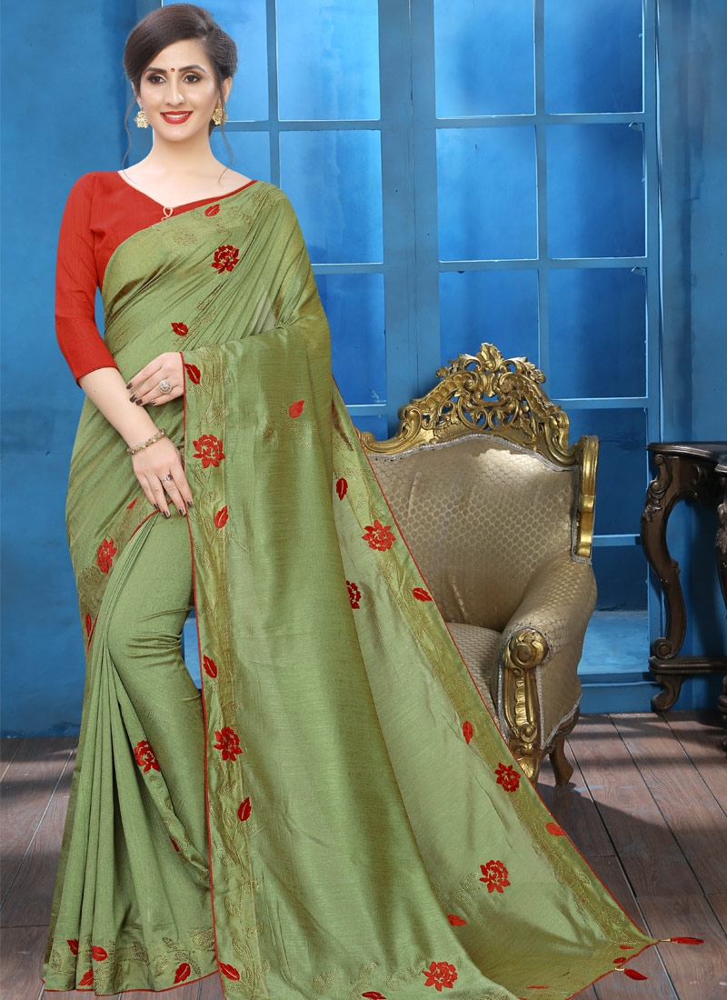 Crystal Work Designer Traditional Saree