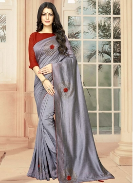 Crystal Work Traditional Designer Saree