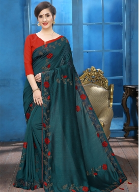 Crystal Work Trendy Designer Saree