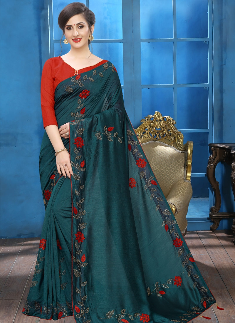 Crystal Work Trendy Designer Saree