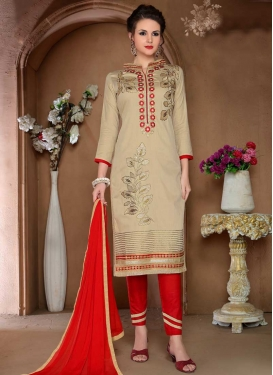 Cutdana Work Cotton Pant Style Classic Salwar Suit